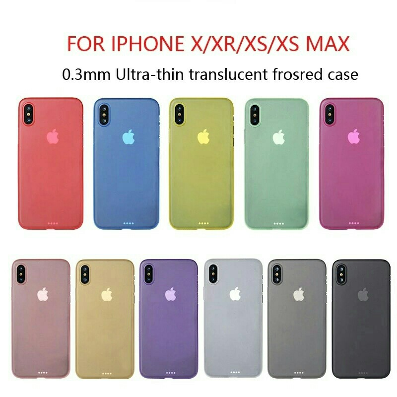 size 40 e895a fa9d1 0.3mm Ultra Thin frosted Case For iphone X XR XS MAX Matte Plastic Back  Cover Case for iphone X For iphone XR XSMAX Fashion Case