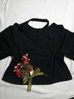 chocker croptop blouse