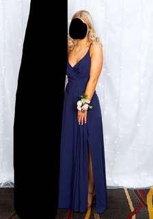 navy ball dress