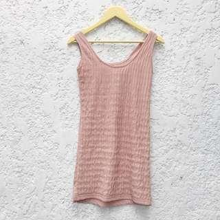 Cordovan Textured Dress