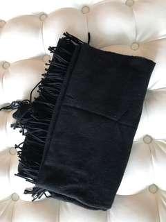 Black warm scarf