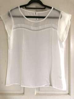 BN chiffon ladies TOP in white