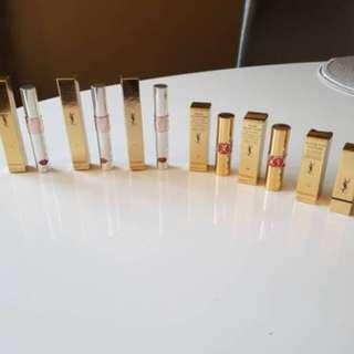 YSL Lipsticks x 3 and YSL Liquid Balms x 3. BNIB. Worth over $400