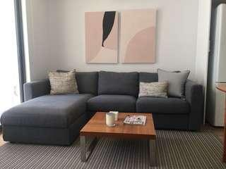Great sofa with chaise and storage