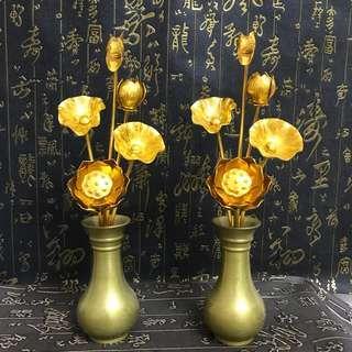 铜瓶供佛真言宗常花日式佛具25厘米