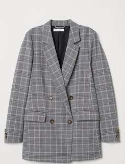 H&M double breasted blazer - NWT (size 2)