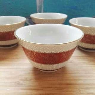 Vintage Gold Trimmed Teacup Set