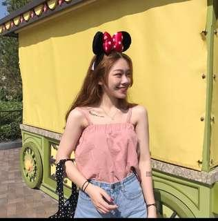 Pink Ulzzang strappy top