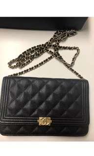 Chanel Boy WOC Wallet On Chain Caviar Ghw