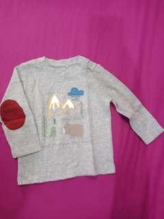Kaos lengan panjang mothercare like new