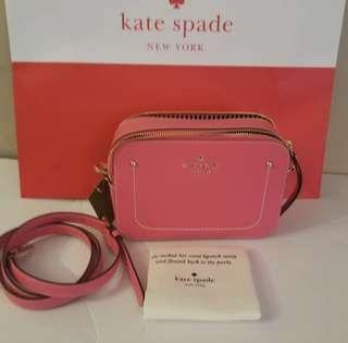 Kate Spade pink double zip crossbody bag