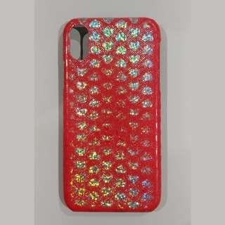 *Free* iPhone Xs X Case Cover Red Hearts