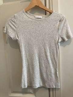 Kookai Grey Tshirt (Tightfitted)