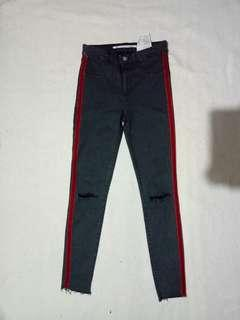 Zara Knee Ripped with side striped Pants