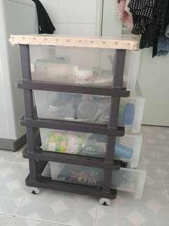 4層面板有轆塑膠柜