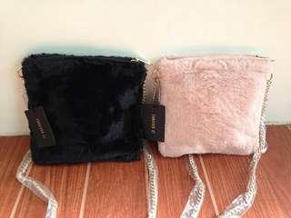 (REPRICED) Forever 21 Fur Sling Bag