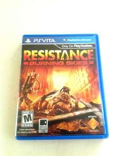 Resistance Burning Skies PS Vita game