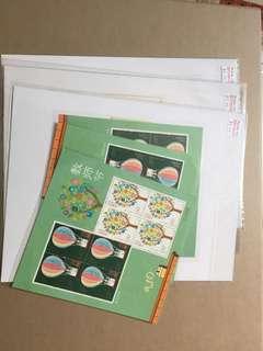 中國人邮票教师节小板5张