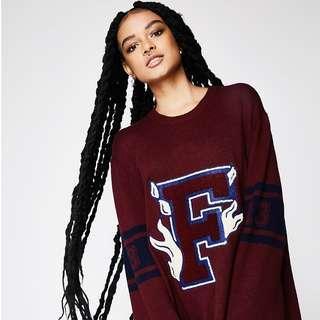 Fenty Puma Oversized Knit Crewneck Sweater