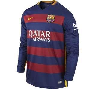 Barcelona Jersey 15/16 Home Kit Long Sleeved