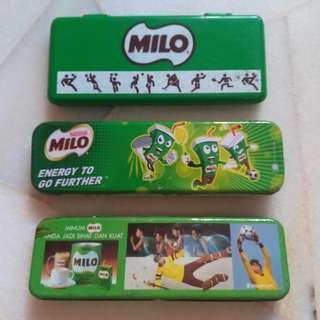 Vintage 3 Milo Tin Tonic Food Drink Pencil Box