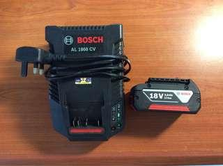 Bosch fast charger and 18V battery set