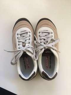 Authentic Retro and Vintage MBT Nude/Beige Runners/Sneakers/Platform Shoes