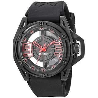 2(X)IST Men's 2X1-004 NYC Analog Display Analog Quartz Black Watch