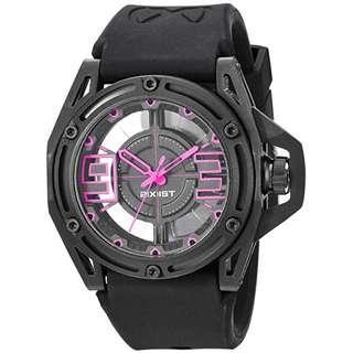 2(X)IST Men's 2X1-006 NYC Analog Display Analog Quartz Black Watch