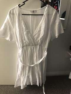 White Summer Dress Fit Size 8-10