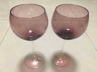 紫色酒杯一對