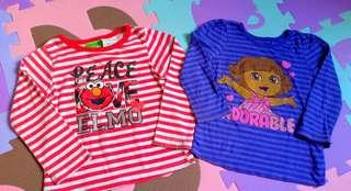 Elmo and Dora Stripes Tee