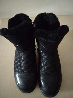🚚 女童厚低筒靴