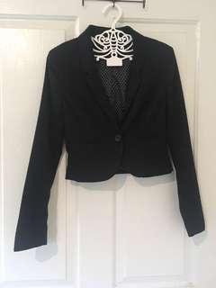 H&M crop blazer