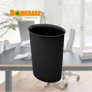 HOMEbase Small Round Dustbin Black