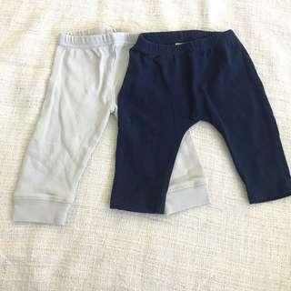 2 Pairs of Plain Baby Tights