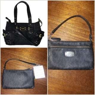 Original Michael kors mk leather dual sling bag and wristlet wallet