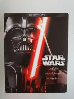 Star Wars Original Trilogy Blu Ray plus DVD