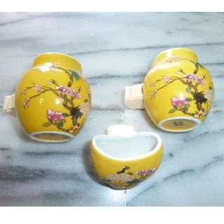🚚 鳥籠配件 相思 白紋 八哥 鳥杯 水杯 飼料杯 瓷杯