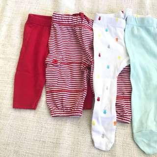 4 Newborn Baby Pants/Tights