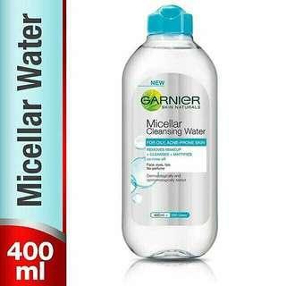Micellar water 400 ml warna biru