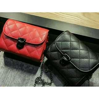 [ READY STOCK ]  MINI QUILTED CHAIN SLINGBAG