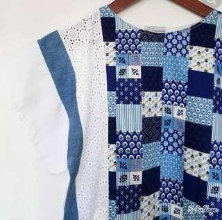 Kimmie patchwork indigo