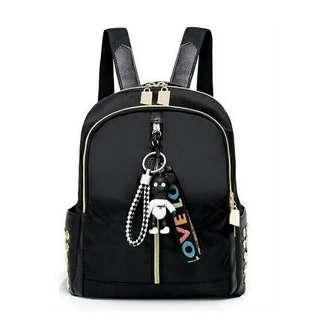 [ READY STOCK ] CAROLINE BACKPACK + KEYCHAIN