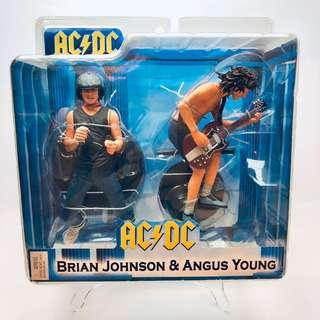 NECA 2-Pack Set AC/DC Angus Young & Brian Johnson music action figure