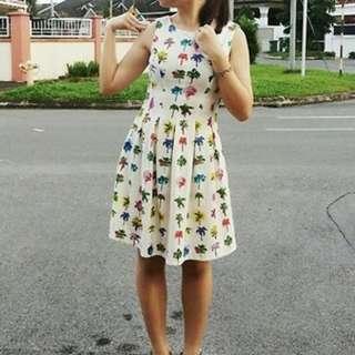 Zara Inspired Palm Trees Dress