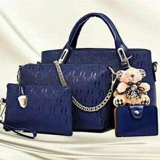 [ READY STOCK ] 5 IN 1 BEAR HANDBAG