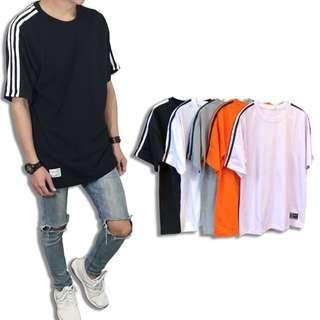🕶落肩三線短袖T🌈《穿搭空間》台灣製造 落肩款 三線T 短袖 運動風(五色)