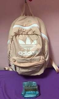 🚚 adidas粉色後背包(💯正品)新款