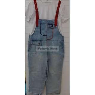 時尚百搭牛仔吊帶褲(不連打底t恤) 薄身, 易穿搭! denim jeans **包順豐站自取